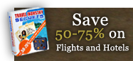Save 50-75% on Flights and Hotels